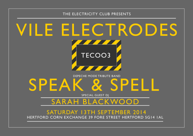 VILE ELECTRODES AND SPEAK & SPELL TO PLAY TEC003 ON SATURDAY 13TH SEPTEMBER